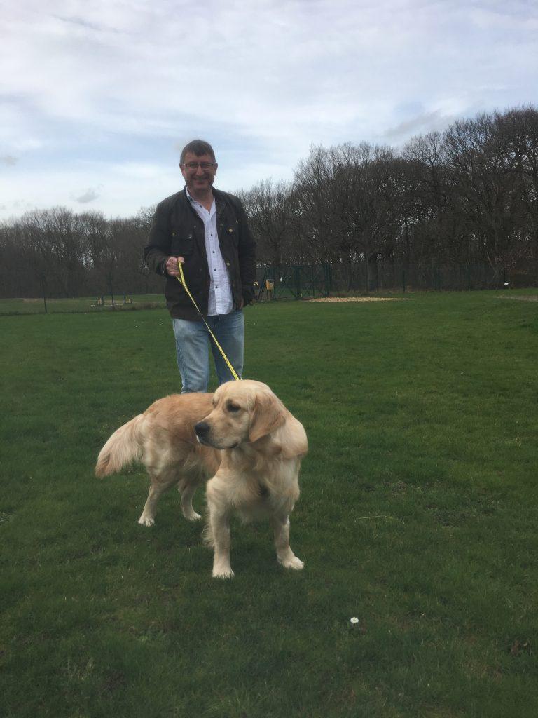 Monty on a walk